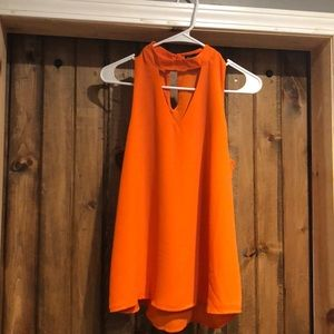 Orange dressy tank